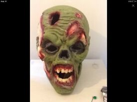 2x large resin zombie heads