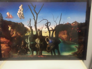 2 SALVADOR DALI  MOUNTED PRINTS