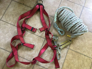 Harness Lanyard and 100' Safety rope