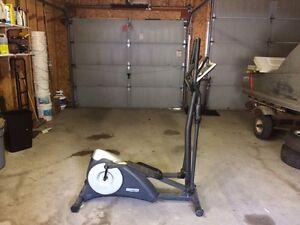 Elliptical work out machine