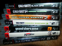 $20 each game all PS3 games in case all in excellent condition