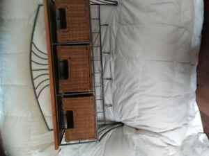 Wicker wall shelf