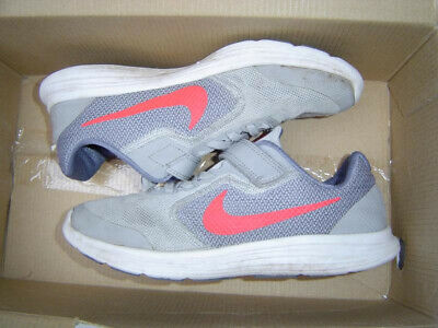 Nike Kinder Freizeitschuh REVOLUTION 4 (PSV) Klett schwarz grau, Größe:28