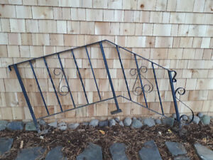 Wrought iron railings and corbels