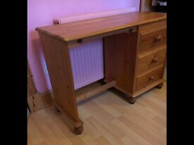 Small solid pine dressing table