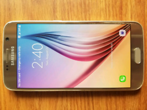 Mint Condition 32g Samsung Galaxy S6 Gold