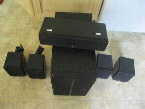 Yamaha 5-1 Speakers 4x satellite plus center and Subwoofer