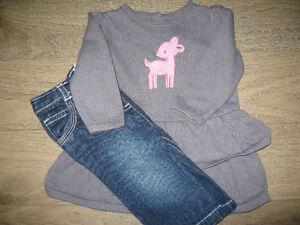 Girl's 3/6 months (Gymboree) sweater and jean