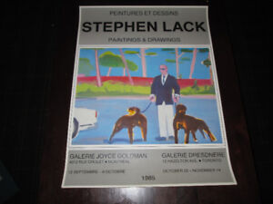 """Stephen Lack - Art Show Poster ( Of """"Scanners"""" Fame)"""