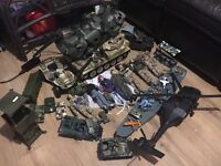 Army bundle including HM armed forces figures, tank and quad