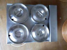 Lincat dry heat bain marie, 4 pot
