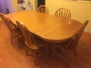 10 seating solid oak table