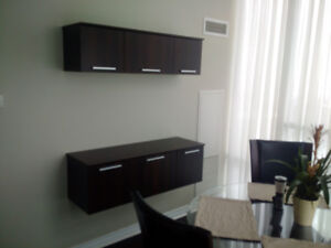 Wall mounted dining room cabinets