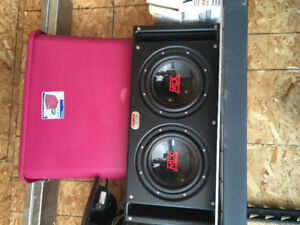 "Mtx subs 10"" in box"