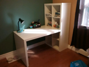 Ikea desk and book shelf (Sold, pending pick up)