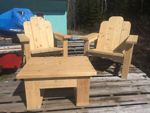 Patio chair set and table