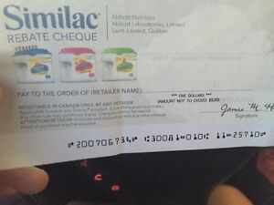 Similac coupons - 5 in total