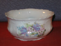 Decortive China Bowl - Floral - Unmarked - 2 3/4 by 5 3/4