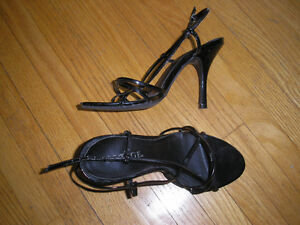 Ladies Shoes, Size 5  Sandals with 4 inch high heels.