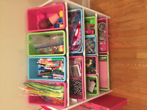 Children's Storage Bins. 12 bins in a neat organized way!