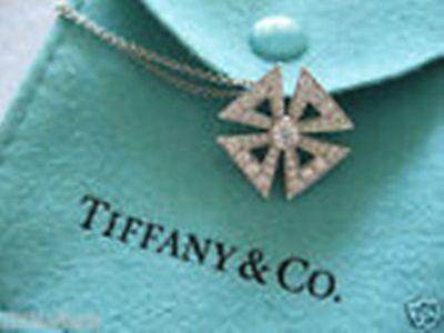 DIAMOND & PLATINUM, TIFFANY & Co., Cross Pendant+ Chain, Original, Vintage Chain Platinum Cross