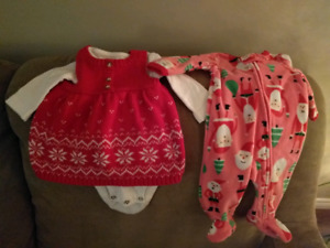 Christmas lot of 3, newborn and 0-3 months.