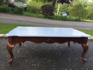 Funky refinished coffee table, excellent condition!