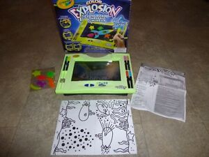 Color Explosion Glow Board with glow clings & markers, lights up