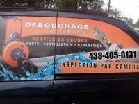 EXPERT DEBOUCHAGE EGOUTS RACINE 4384050131 CAMERA DRAINS RATS