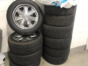Set of four rims and tires fits Jeep Grand Cherokee 2008 -2017