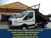 2014 64 FORD TRANSIT CUSTOM FORD TRANSIT CUSTOM TIPPER TRUCK 125 BHP T350 LOW ML
