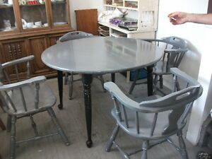 wood table and chairs for sale