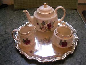 Service à thé SADLER England + Plateau argent plaqué
