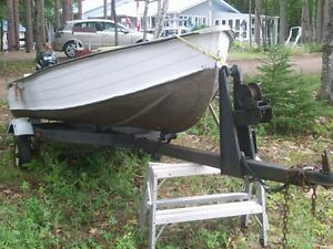 boat with 8 hp motor & accessories