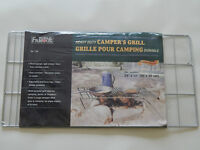 NEUF GRILLE DE CAMPING POUR FOYER