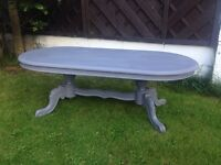 Very ornate shabby chic'd coffee table.