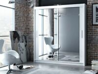👀👀BRAND NEW SLIDING DOOR MIRRORED WARDROBE WITH FREE DELIVERY 👀👀