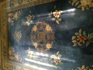 Silk and wool Oriental rug - in good condition and clean