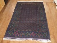 PERSIAN HAND KNOTTED WOOL RUG,VINTAGE