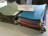 Hanging Filing Folders - Both Letter & Legal Sizes available.