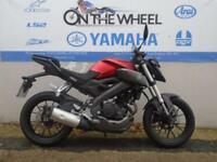 2015 YAMAHA MT 125 ABS ***HPI CLEAR*** ***ANODIZED RED COLOUR SCHEME***