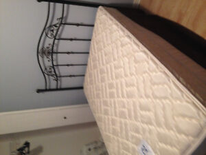 Double mattress, headboard, box board and frame