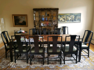 Exquisite 10 seat dining room table and chairs