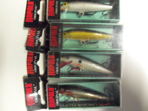 4 f7 Rapala's.  fishing, tackle, lure, rod, reel