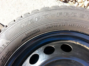 Nord Frost 205/55 R16 Snow Tires on Genuine Volvo RIMS