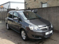 12 12 VAUXHALL ZAFIRA 1.8 VVT 16V DESIGN SPORT 5DR 7 SEATER ALLOYS HEATED SEATS