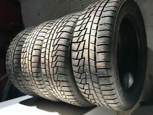 4-NOKIAN NORDMAN 215/55R16 WINTER TIRES OVER 90% TREAD LEFT
