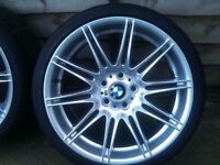 "Bmw Mv4 19"" Original Genuine Alloy wheel RUN FLAT TYRE FRONT CAN POST"