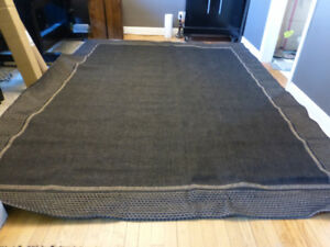 Brand New Large Costco Dark Grey Outdoor Patio Area Rug - 8x10