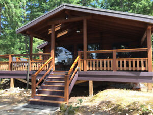 Rental Cabin Shawnigan Lake front